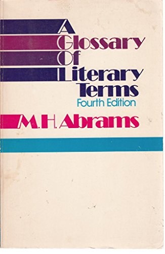 9780030541667: A Glossary of Literary Terms