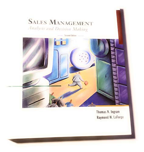 9780030541681: Sales Management: Analysis And Decision Making