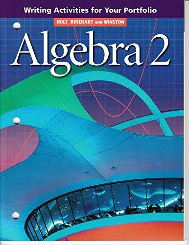 9780030542190: Algebra 2: Writing Activities For Your Portfolio