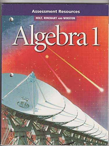 9780030542220: Algebra 1: Assessment Resources