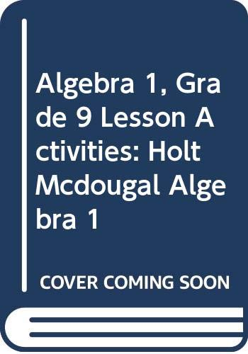 9780030542848: Holt Algebra 1: Lesson Activities