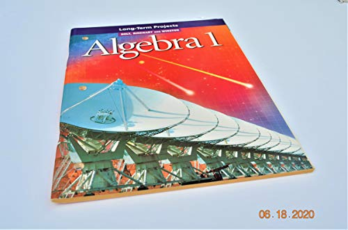 9780030542879: Algebra 1: Long-Term Projects