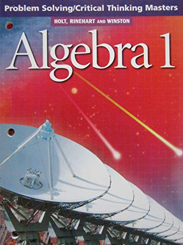 9780030542893: Algebra 1: Problem Solving / Criical Thinking Masters