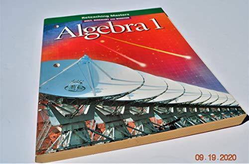 9780030542923: Holt, Rinehart and Winston Algebra 1: Reteaching Masters