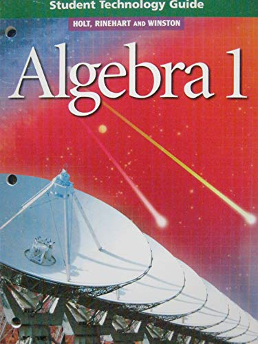 9780030542992: Algebra 1: Student Technology Guide