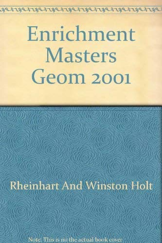 9780030543197: Geometry Enrichment Masters