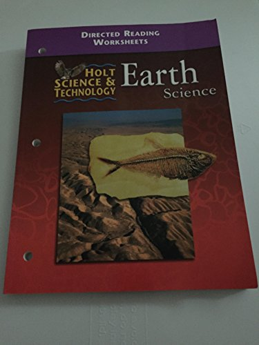 holt science technology earth science directed reading worksheets by winston holt rinehart. Black Bedroom Furniture Sets. Home Design Ideas