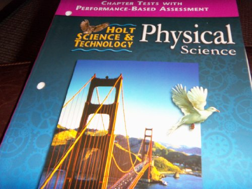 9780030544026: Holt Science and Technology Physical Science: Chapter Tests With Assessment
