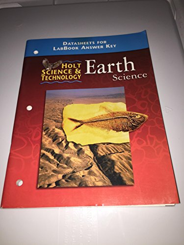 9780030544118: Holt Earth Science: Data Sheets for Lab Book Answer Key