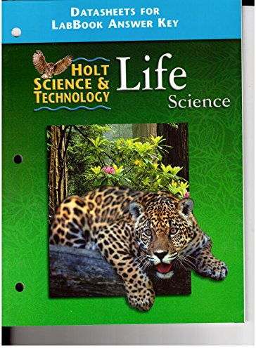 Holt Science&Technology Life Science Datasheets for LabBook Answer Key