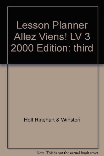 9780030544415: Allez Viens (Lesson Planner, Holt French Level Three)