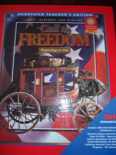 9780030544545: Call to Freedom Beginnings to 1914 Annotated Teacher's Edition