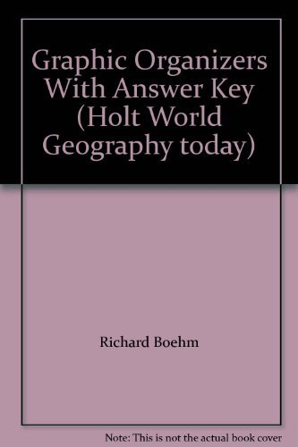 9780030544699: Graphic Organizers With Answer Key (Holt World Geography today)