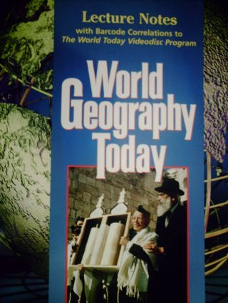 9780030544774: World Geography Today Lecture Notes with Barcode Corrections to The World Today video disc program