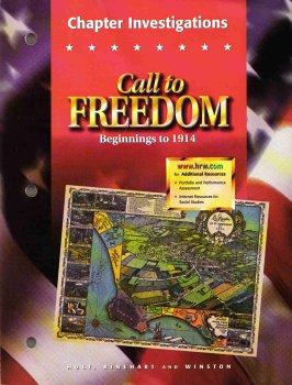 9780030544910: Call to Freedom Beginnings to 1914: Chapter Investigations