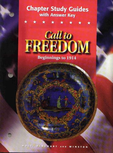 9780030544989: Call to Freedom Beginnings to 1914 : Chapter Study Guides with Answer Key