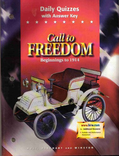 9780030545023: Call to Freedom Beginnings to 1914 : Daily Quizzes with Answer Key