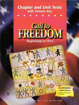 9780030545030: Call to Freedom Beginnings to 1914: Chapter and Unit Tests with Answer Key