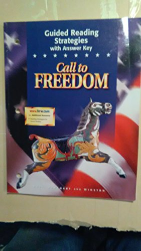 9780030545245: Call To Freedom: Guided Reading Strategies With Answer Key