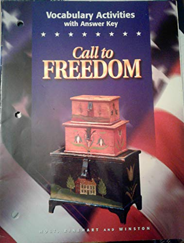 9780030545276: Vocabulary Activities With Answer Key- Call To Freedom