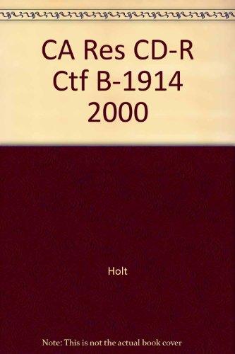 9780030545467: CA Res CD-R Ctf B-1914 2000