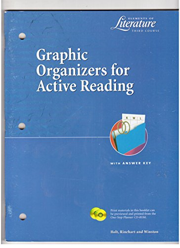 Graphic Organizers for Active Reading with Answer Key (Elements of Literature Third Course): ...