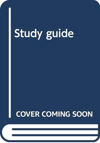 9780030546273: Study guide