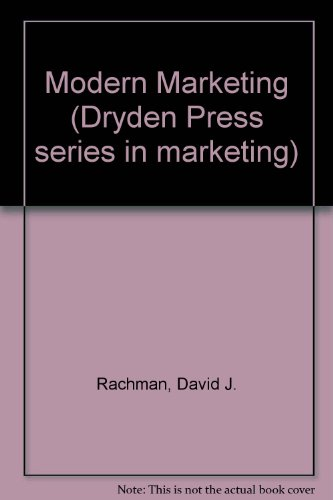 9780030547263: Modern Marketing (Dryden Press series in marketing)