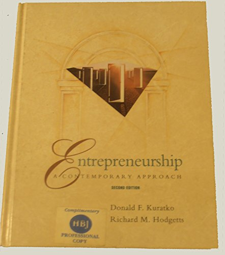 9780030547522: Entrepreneurship: A Contemporary Approach (The Dryden Press series in management)