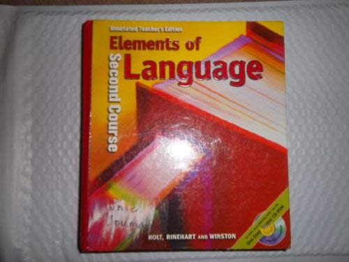 9780030547973: Elements of Language: Second Course, Annotated Teacher's Edition