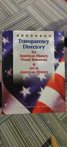 9780030548222: Transparency Directory for American History Visual Resource & Art in American Hi