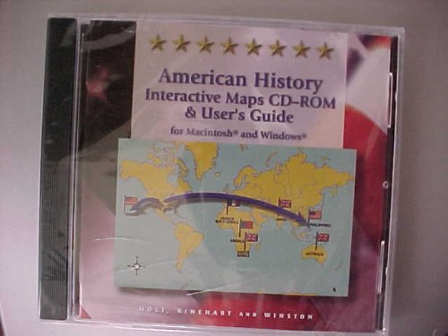 9780030548444: American History: Interactive Maps CD-ROM & User's Guide