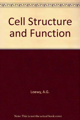 9780030548970: Cell Structure and Function: An Integrated Approach/International Edition