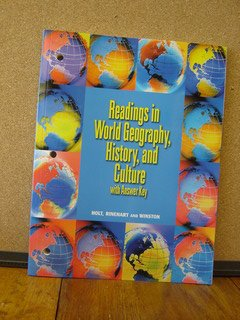 9780030549113: Reading in World Geography, History, and Culture (Holt People Places and Change)