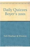 9780030549489: Daily Quizzes Boyer's 2001