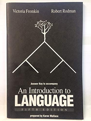 9780030549847: AK Introduction to Language