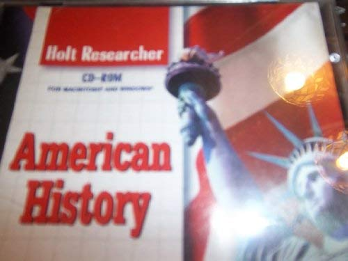 9780030549960: American History (Holt Researcher)