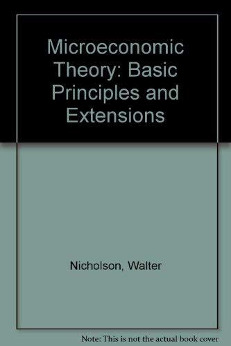 Microeconomic Theory: Walter Nicholson