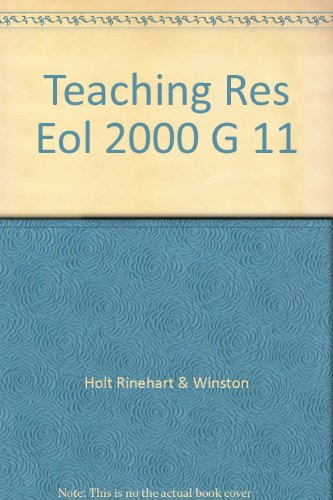 9780030552595: Teaching Res Eol 2000 G 11