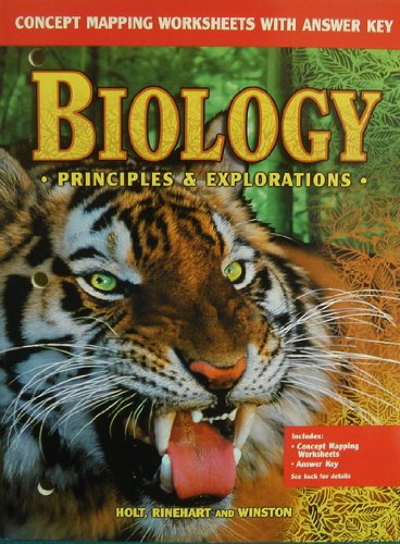 9780030553196: Biology Principles & Explorations: Concept Mapping Worksheets with Answer Key