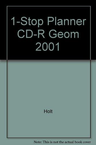 9780030553325: 1-Stop Planner CD-R Geom 2001