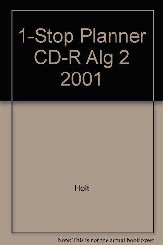 9780030553332: 1-Stop Planner CD-R Alg 2 2001