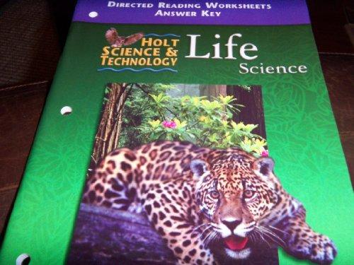 9780030554070: Holt Science and Technology 2001 : Life: Directed Reading Worksheets with Answer Key