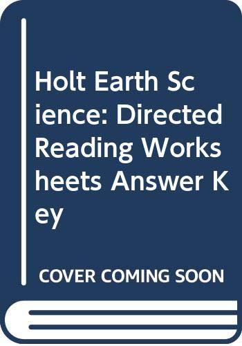 9780030554131 holt earth science directed reading. Black Bedroom Furniture Sets. Home Design Ideas