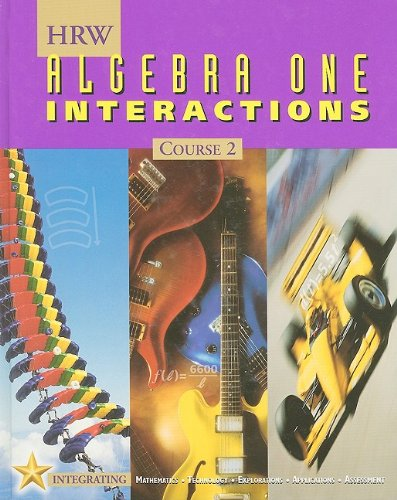 9780030555121: Holt Mathematics: Student Edition Algebra One Interactions Course 2 2001