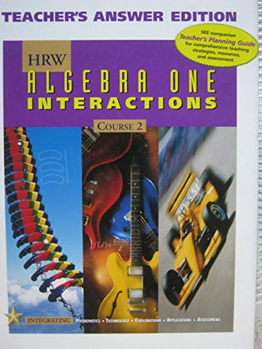 9780030555138: Algebra 1 Course 2 : Interactions: Teacher's Answer Edition