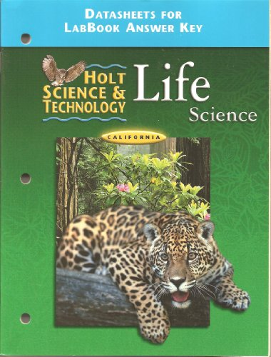 9780030556487: California Datasheets for LabBook Answer Key (Holt Science & Technology Life Science)