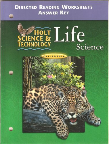 9780030556524: Holt Science and Technology Life Science California Directed Reading Worksheets Answer Key