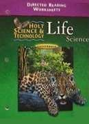9780030556623: Holt Science and Technology, California Directed Reading Worksheets: Life Science
