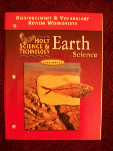 9780030556937: CA Reinf & Voc Wkshts HS&T 2001 Earth